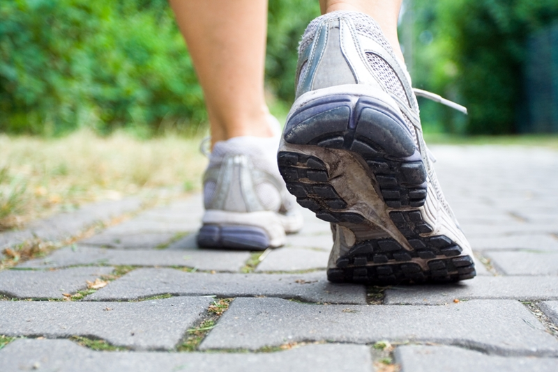 Walking is a simple but effective low-impact exercise.