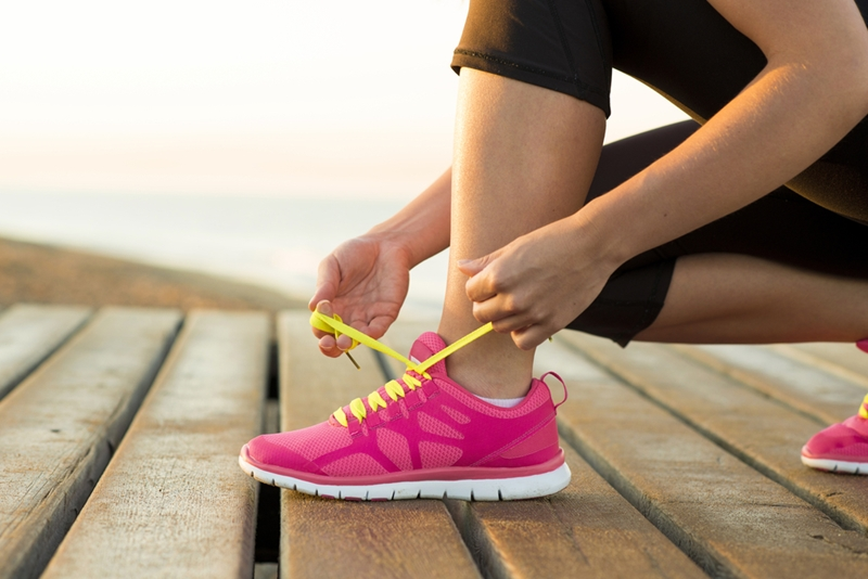 Wearing the right shoes is an important part of avoiding running injuries.